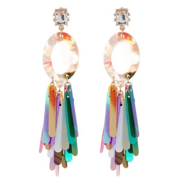 797c223a860e0 Natasha Accessories Limited Fringe Drop Earrings NWT